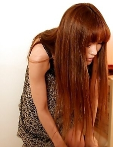 Japan slender with hairy pussy