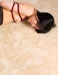 Moeka Kurihara gets her pantyhose-clad legs fucked relentlessly by a hung dude