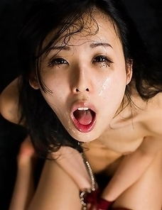 Face fuck slave Natsuki Yokoyama loves cock so much she begs to have it shoved down her throat.