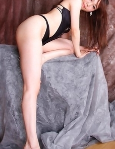Aino Mahni on high heels shows nasty ass with thong in it