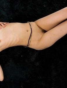Topless Karina Oshima finally pulls down her panties to finger-blast herself
