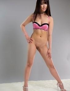 Stunning JAV brunette Mizuho Shiina shows off her perky ass and sexy legs