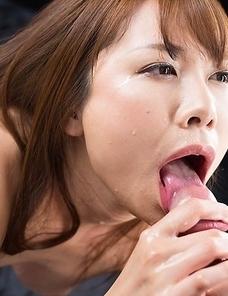 Miharu Kai Cum Covered Group Handjob