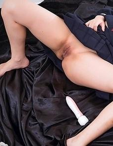 Innocent schoolgirl Neko Aino has never had a facefull of cock before today