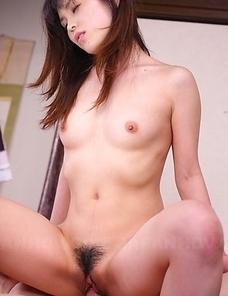 Arisa Suzuki has hairy pussy filled with cum