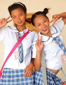 Two cute young Filipina Sally and Nica
