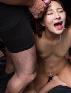 Uika Hoshikawa Sticky Bukkake Facial